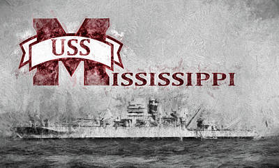 Battle Ship Photograph - Uss Mississippi by JC Findley