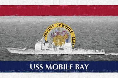 Photograph - Uss Mobile Bay by JC Findley