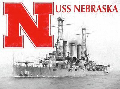 Photograph - Uss Nebraska by JC Findley