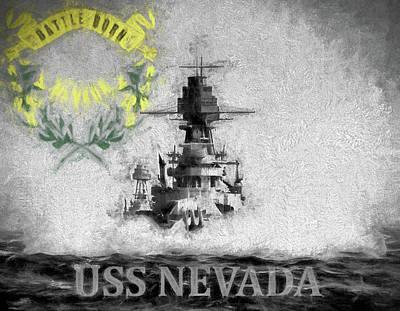 Digital Art - Uss Nevada by JC Findley
