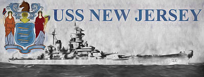 Battle Ship Photograph - Uss New Jersey by JC Findley