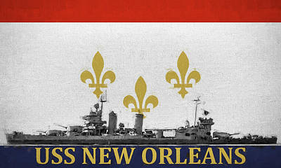 Digital Art - Uss New Orleans by JC Findley