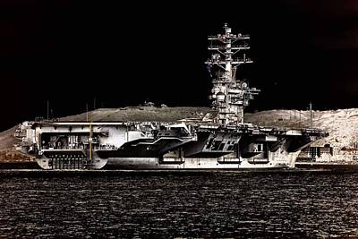 Photograph - Uss Nimitz Aircraft Carrier Leaving The Port Of San Diego  by Paul Fearn