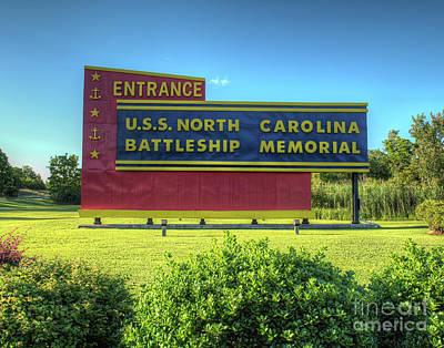 Uss North Carolina, Bb 55, Memorial Art Print