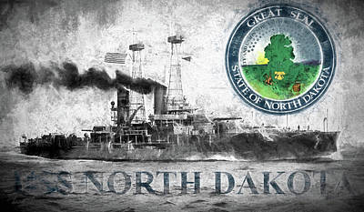 Uss North Dakota Art Print
