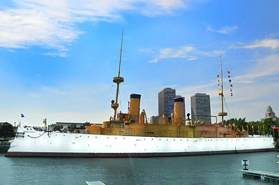 Uss Olympia Art Print by Bill Cannon
