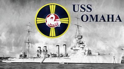 Uss Omaha Art Print by JC Findley