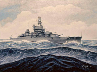 Uss Pensylvania Art Print by William H RaVell III