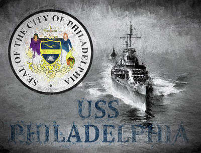 Digital Art - Uss Philadelphia by JC Findley