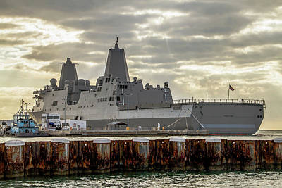 Photograph - Uss Portland From The Port Side by Bob Slitzan