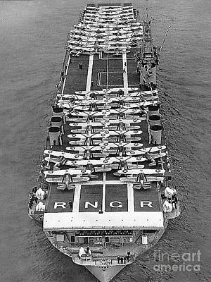 Photograph - Uss Ranger - World's First Aircraft Carrier by Merton Allen