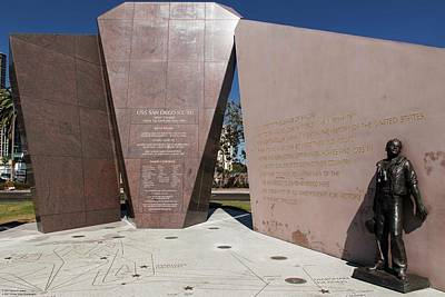 Photograph - Uss San Diego Cl-53 Memorial  by Hany J