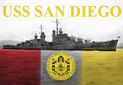 Uss San Diego Art Print by JC Findley