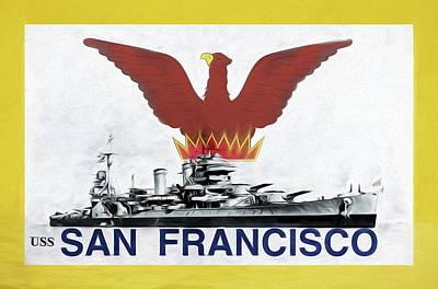 Digital Art - Uss San Francisco by JC Findley