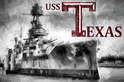 Photograph - Uss Texas Aggie Style by JC Findley