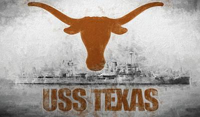 Digital Art - Uss Texas Longhorn Edition  by JC Findley