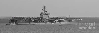 Photograph - Uss Theodore Roosevelt In The Solent by Terri Waters