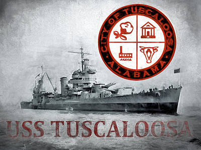 Tuscaloosa Digital Art - Uss Tuscaloosa by JC Findley