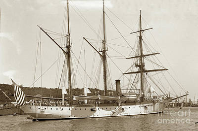 Photograph - U S S Vicksburg Gunboat No. 11 1898 Havana Cuba Spanish American W by California Views Mr Pat Hathaway Archives