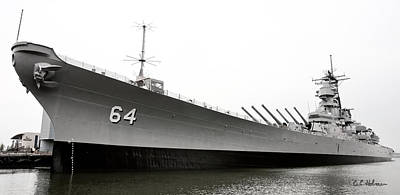 Photograph - Uss Wisconsin - Port-side by Christopher Holmes