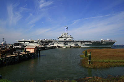 Photograph - Uss Yorktown 10 Color by Joseph C Hinson Photography