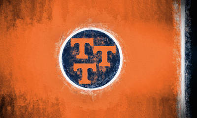 Digital Art - Ut Tennessee Flag by JC Findley