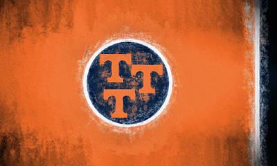 Digital Art - Ut Tennessee Flag by JC Findley