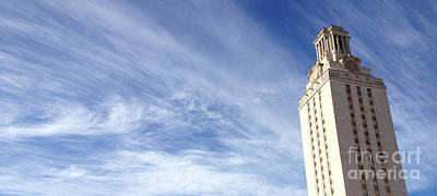 Longhorn Photograph - Ut Tower Clouds by Nexus Ninethousand
