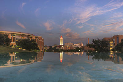 Ut Tower Photograph - Ut Tower Reflection 1 by Rob Greebon