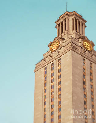 Ut Tower Print by Sonja Quintero