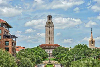 Universities Photograph - University Of Texas Tower  by Tod and Cynthia Grubbs