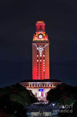 Ut Austin Photograph - Ut Tower With Longhorn by Tod and Cynthia Grubbs