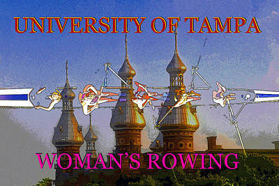 Painting - Ut Woman's Sports by David Lee Thompson