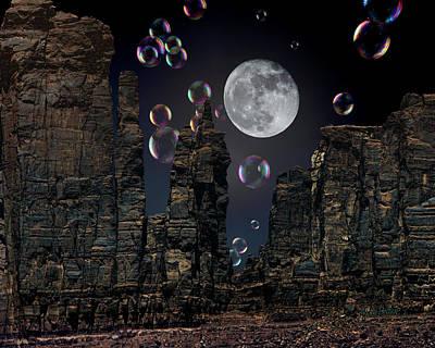 Photograph - Utah Bubble Moon by Mike Braun