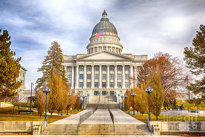 Photograph - Utah Capitol Building by David Millenheft