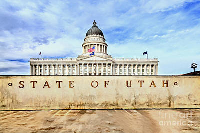 Mixed Media - Utah Capitol by David Millenheft