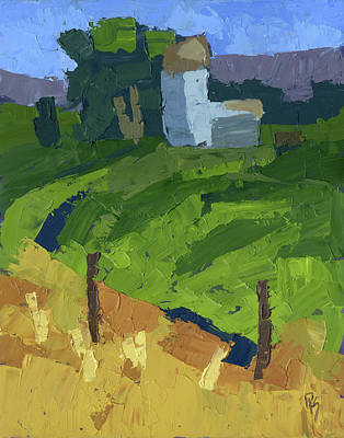 Painting - Utah Farm Abstract by David King