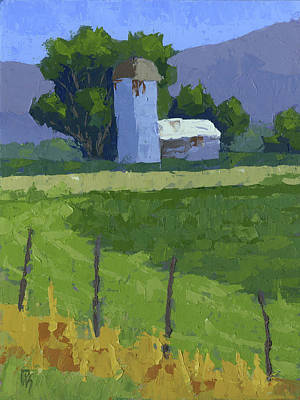 Painting - Utah Farm by David King