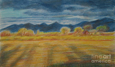Painting - Utah Farmland Shadows  by Jeanette Skeem
