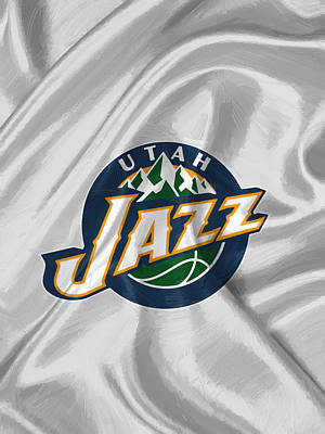 Utah Jazz Art Print by Afterdarkness