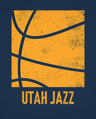 Mixed Media - Utah Jazz City Poster Art 2 by Joe Hamilton