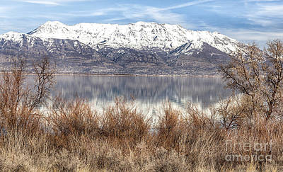 Photograph - Utah Lake And Mount Timpanogos by David Millenheft