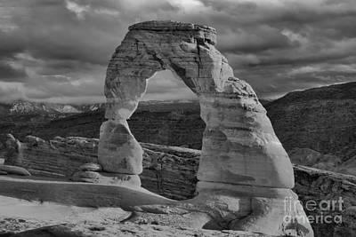 Photograph - Utah Landmark Black And White Sunset by Adam Jewell