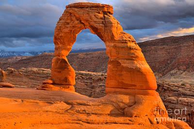 Photograph - Utah Landmark Sunset by Adam Jewell