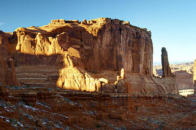 Snow Photograph - Utah Morning Light by Paul Cannon