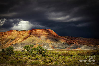 Photograph - Utah Mountain With Storm Clouds by John A Rodriguez