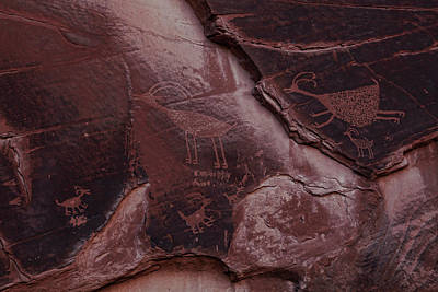 Photograph - Utah Petrogliphs by Ronald Lafleur