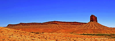 Photograph - Utah Plateau And Tower 001 by George Bostian