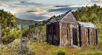 Pinion Digital Art - Utah Range Cabin by J Marielle
