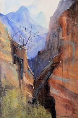 Utah Red Rocks Art Print by Sandra Strohschein